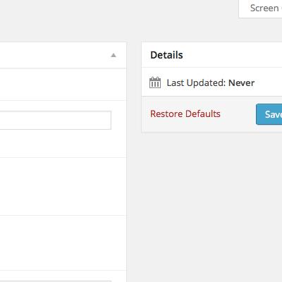 Options Custom Page